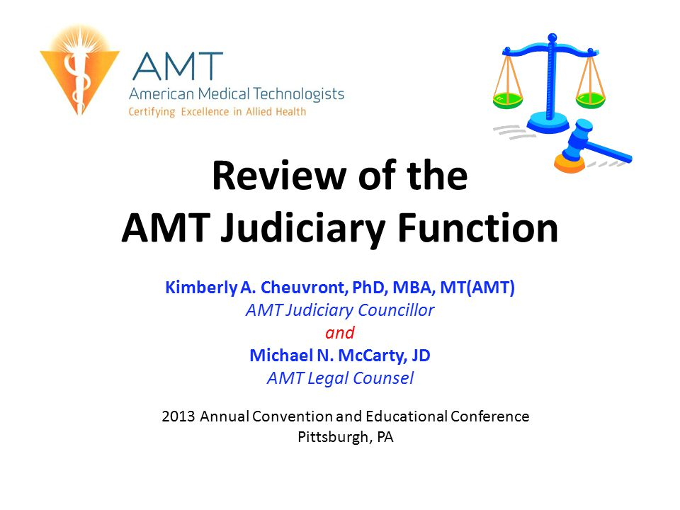 Review of the AMT Judiciary Function Kimberly A.
