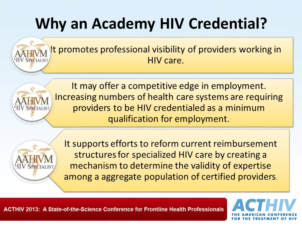 Why an Academy HIV Credential.
