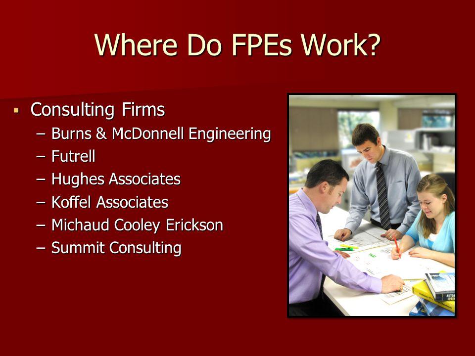 Where Do FPEs Work.