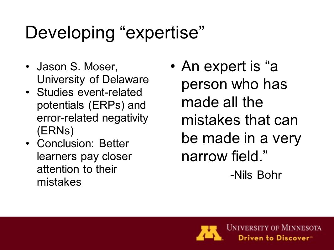 Developing expertise Jason S.