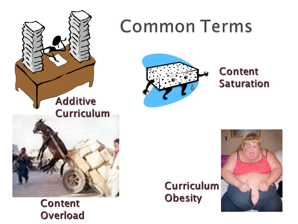 Curriculum Obesity Content Saturation Content Overload Additive Curriculum