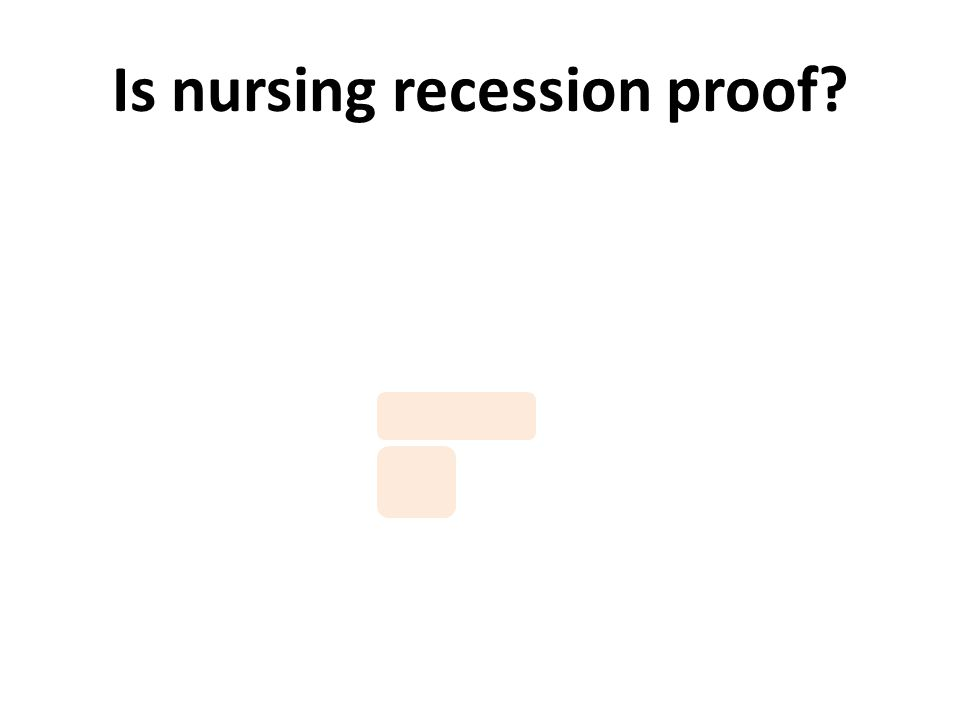Is nursing recession proof?