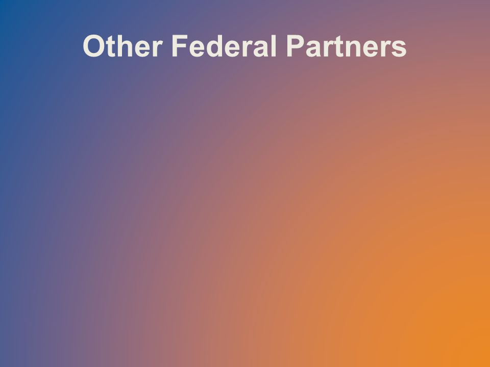 Other Federal Partners