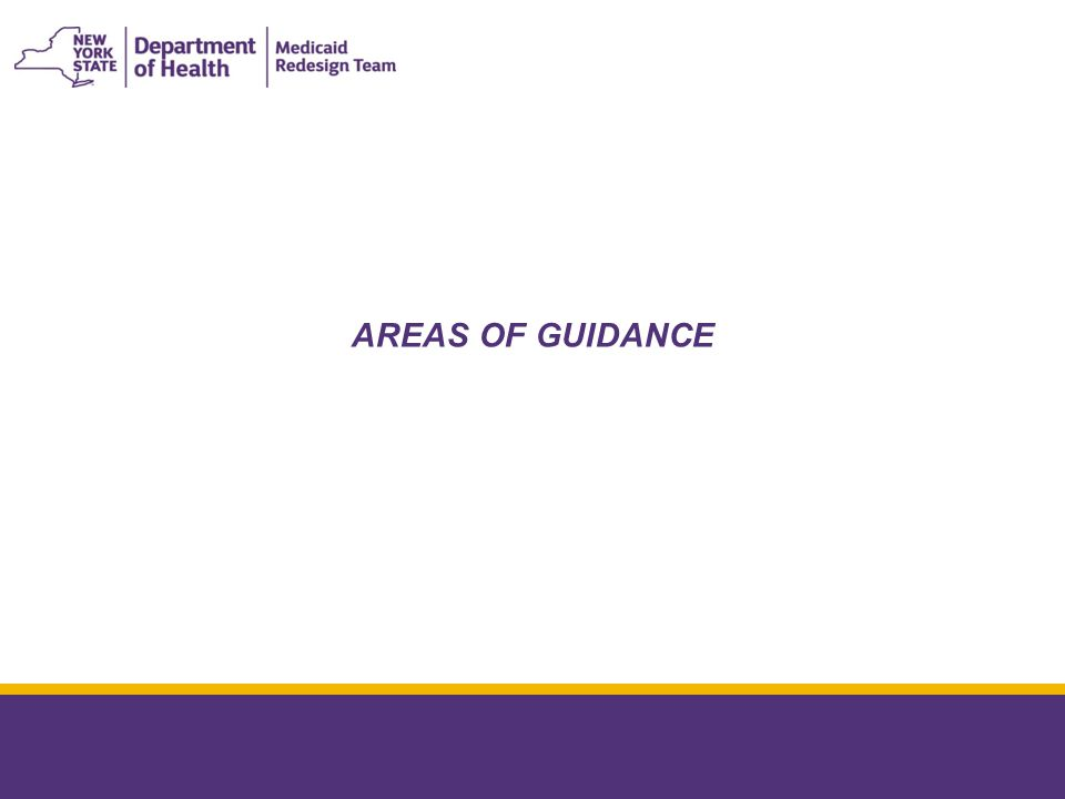 AREAS OF GUIDANCE January 8, 2015