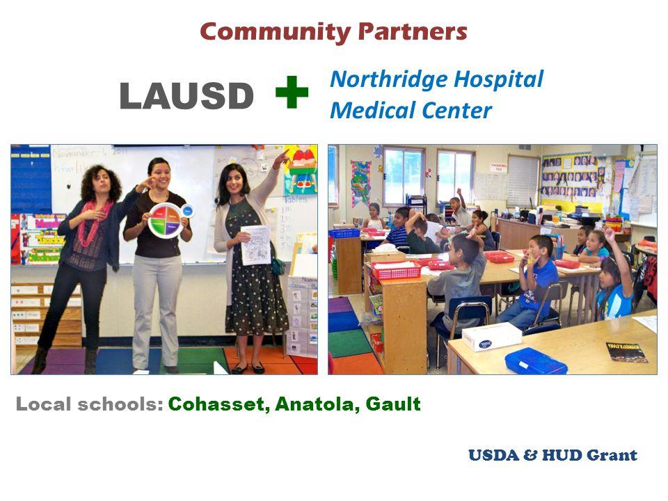 USDA & HUD Grant Community Partners Local schools: Cohasset, Anatola, Gault LAUSD Northridge Hospital Medical Center +
