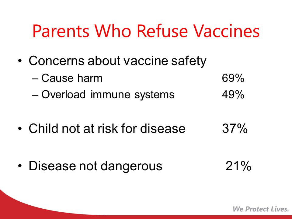 HOW TO COUNSEL THE VACCINE-HESITANT PARENT Initiate a dialogue about vaccines early (at the infant's first visit) to find any underlying hesitancy or misinformation that can be corrected.