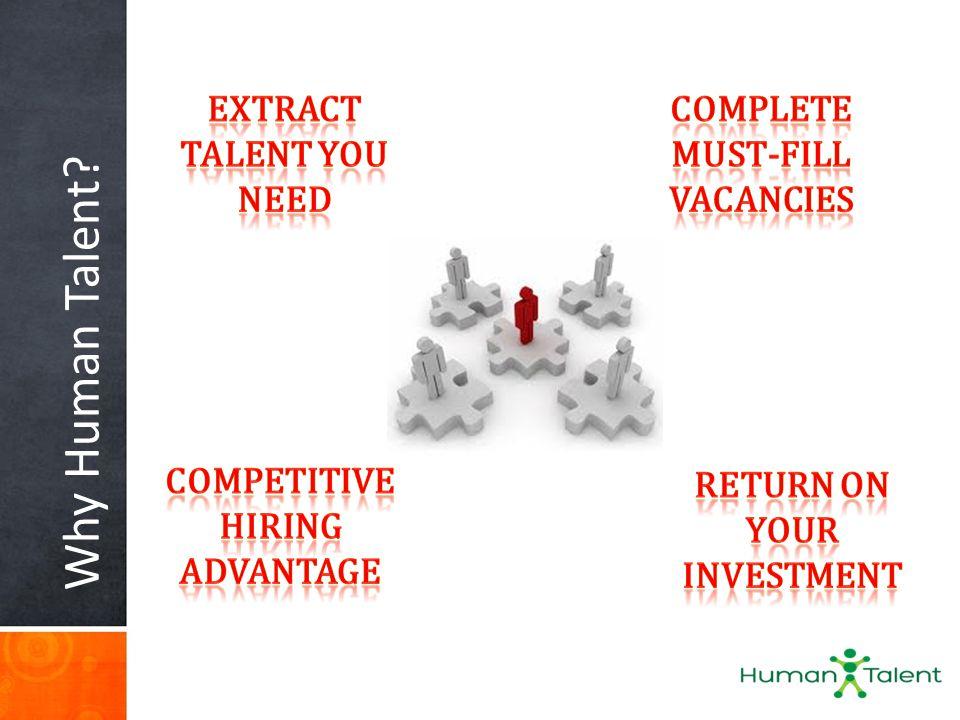 Why Human Talent
