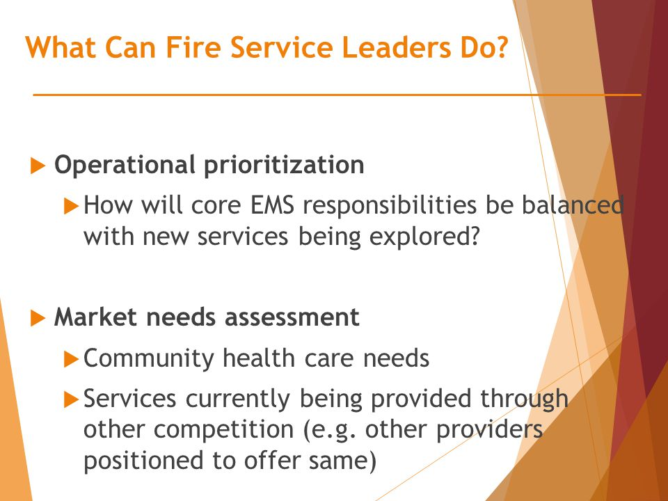 What Can Fire Service Leaders Do.