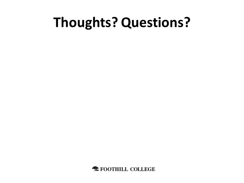 Thoughts Questions