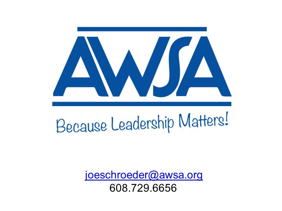 joeschroeder@awsa.org 608.729.6656