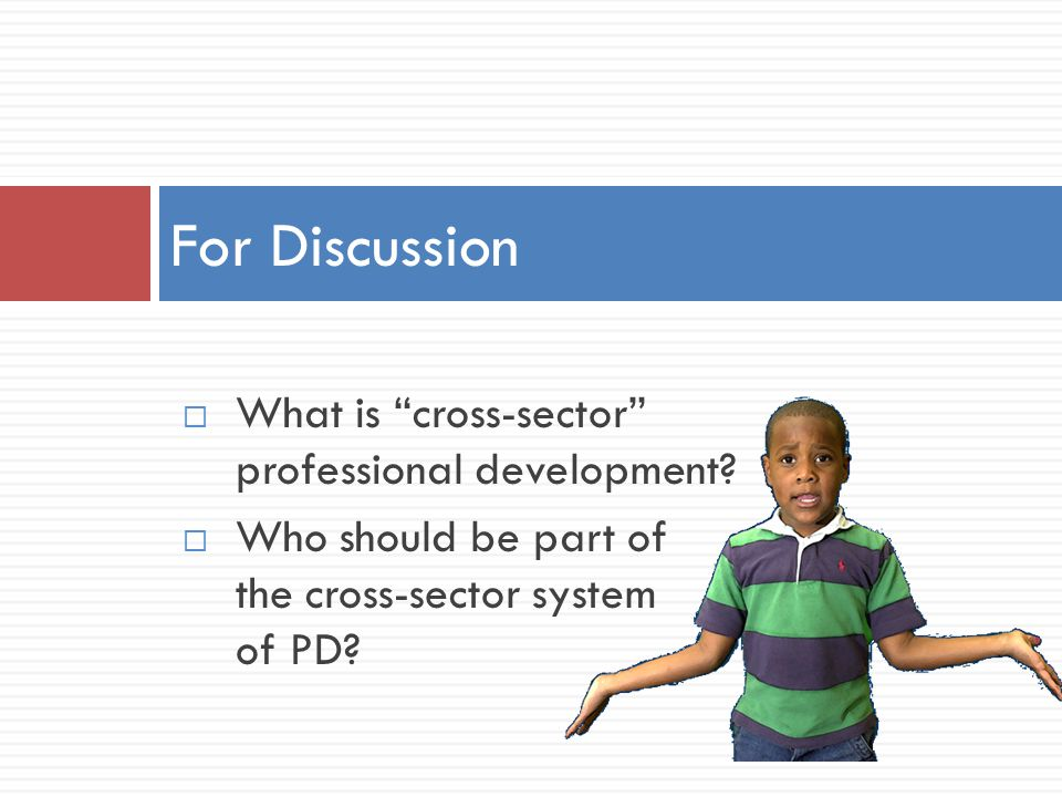  What is cross-sector professional development.