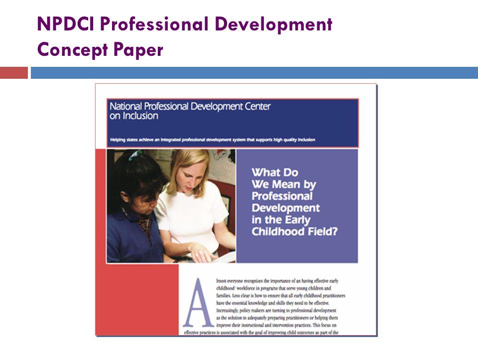 NPDCI Professional Development Concept Paper