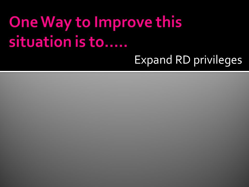 Expand RD privileges