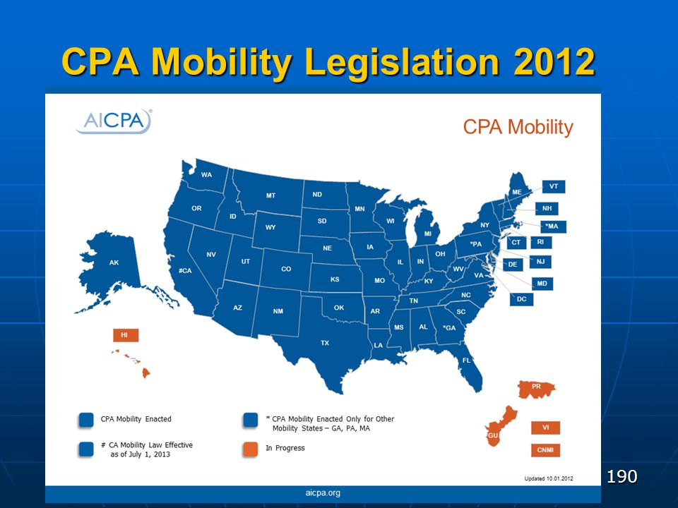 190 CPA Mobility Legislation 2012 p. 11-2