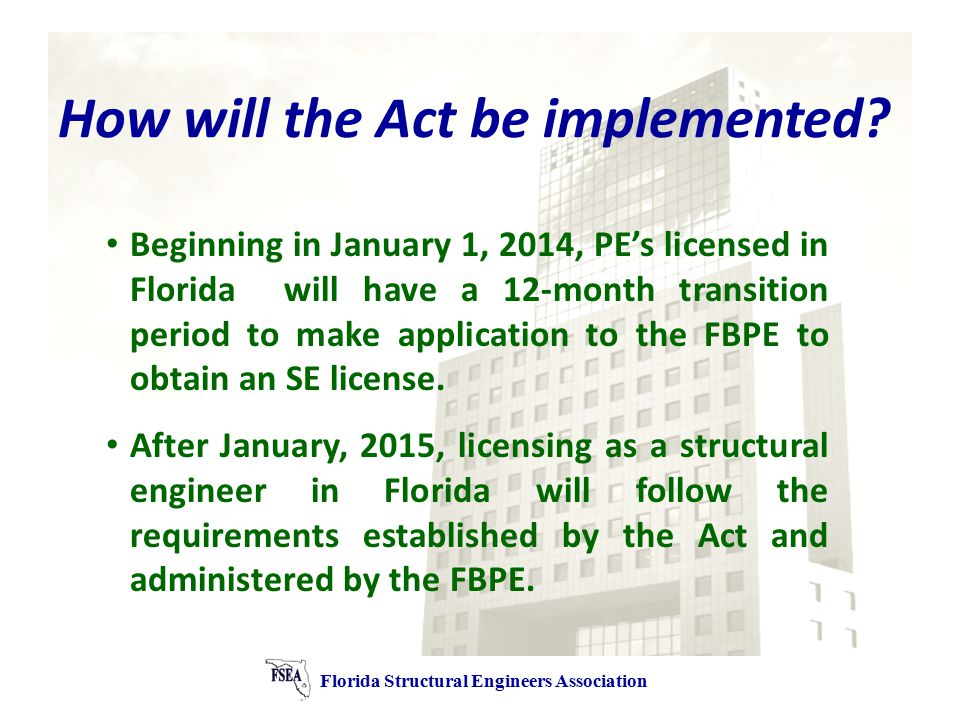 How will the Act be implemented.