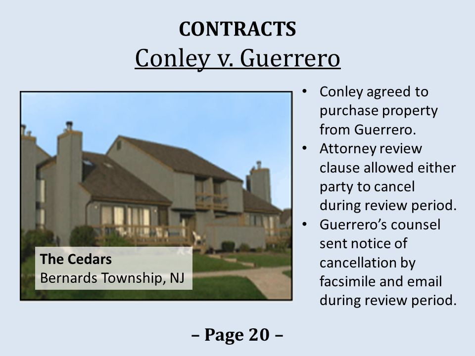 CONTRACTS Conley v.