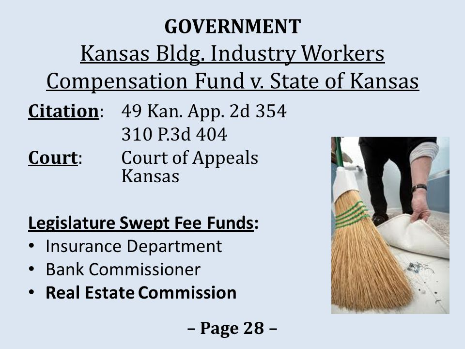 GOVERNMENT Kansas Bldg. Industry Workers Compensation Fund v.