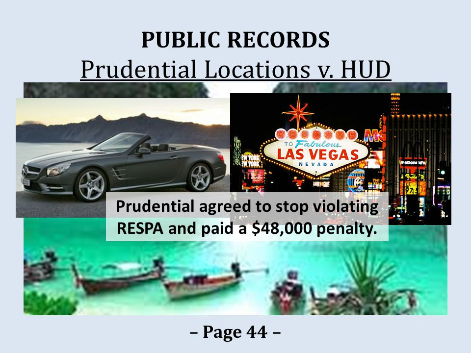 PUBLIC RECORDS Prudential Locations v.