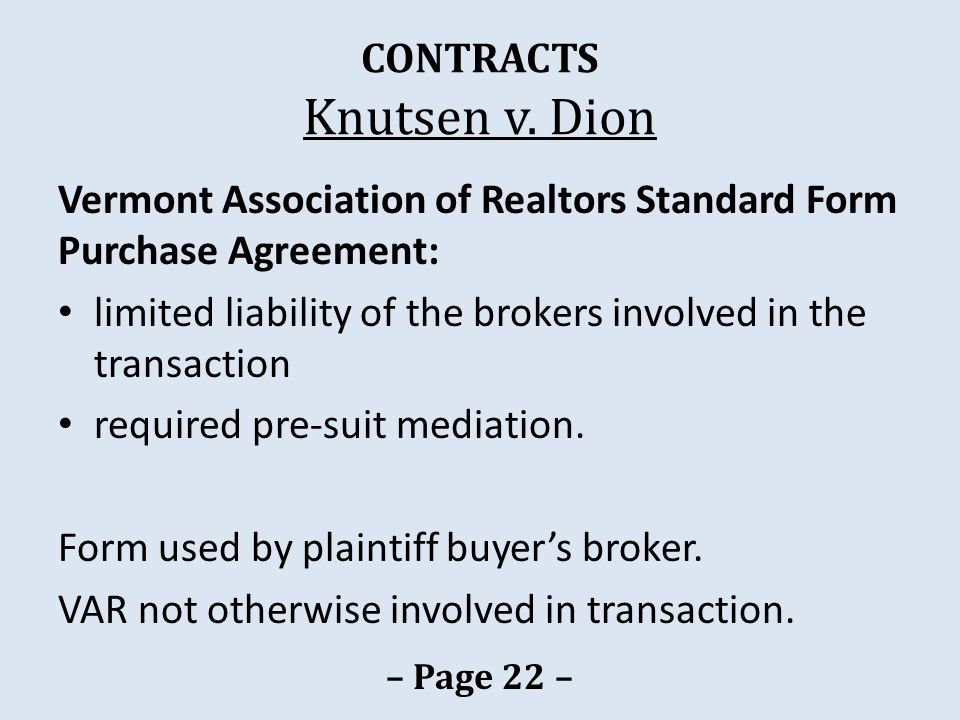 CONTRACTS Knutsen v.