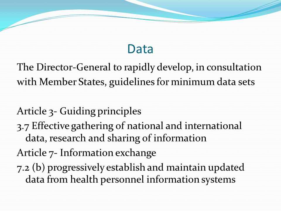 Sustainable workforce questions The Code describes establishing effective health workforce planning .