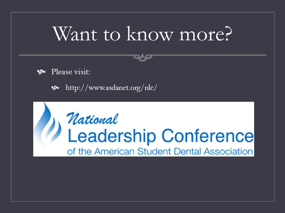 Want to know more?  Please visit:  http://www.asdanet.org/nlc/
