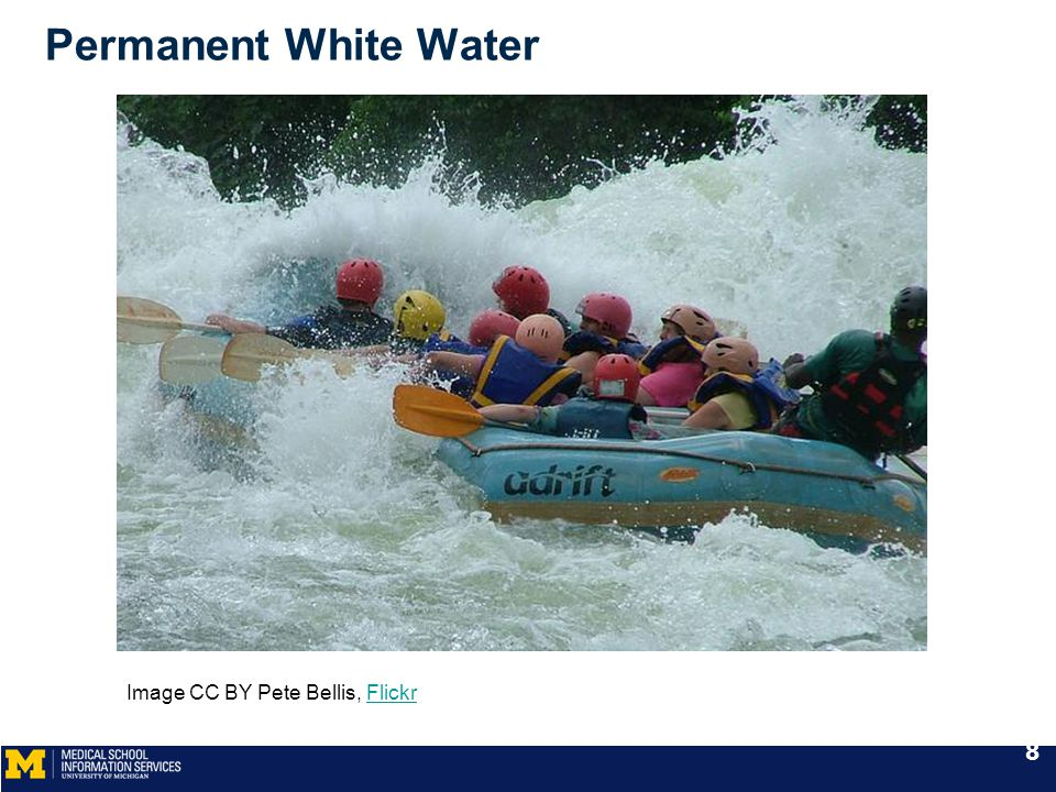 Permanent White Water Image CC BY Pete Bellis, FlickrFlickr 8