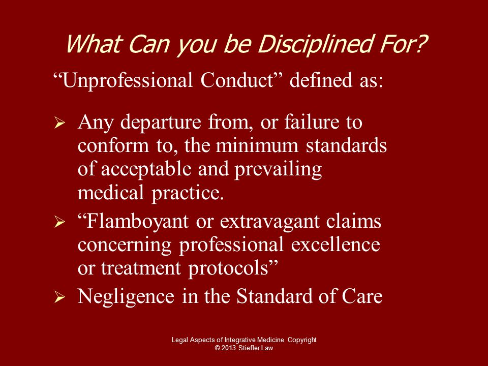 What Can you be Disciplined For.