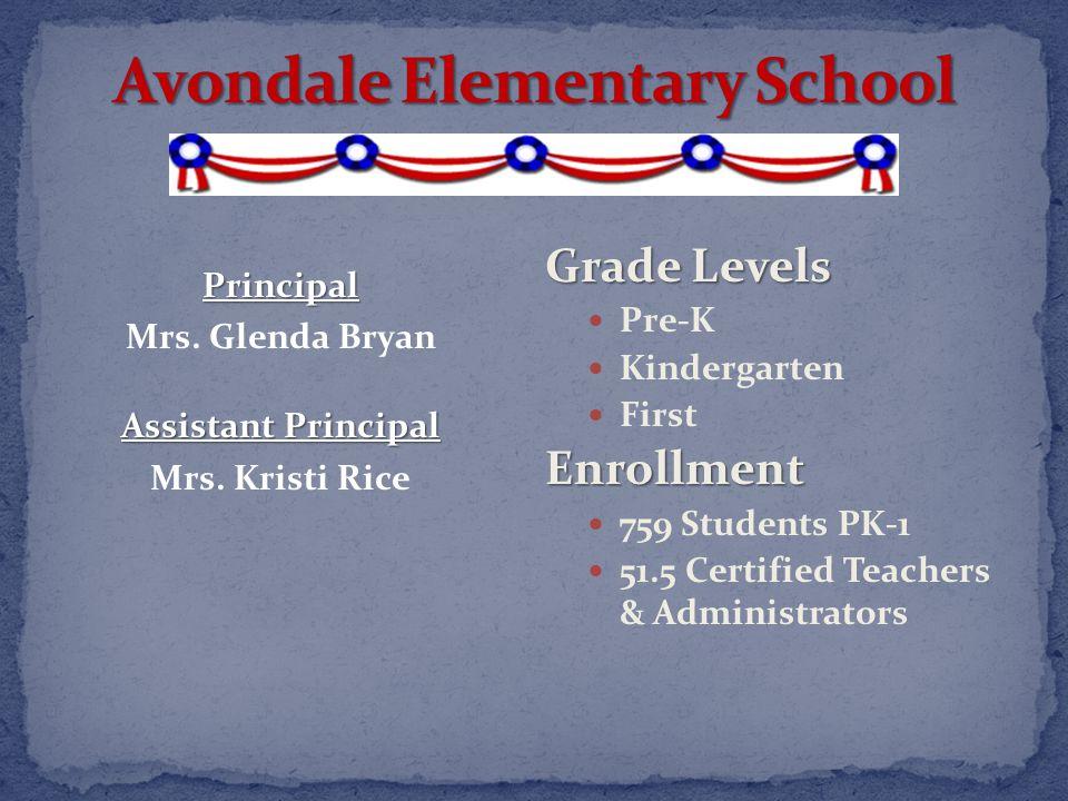 Grade Levels Pre-K Kindergarten FirstEnrollment 759 Students PK-1 51.5 Certified Teachers & Administrators Principal Mrs.