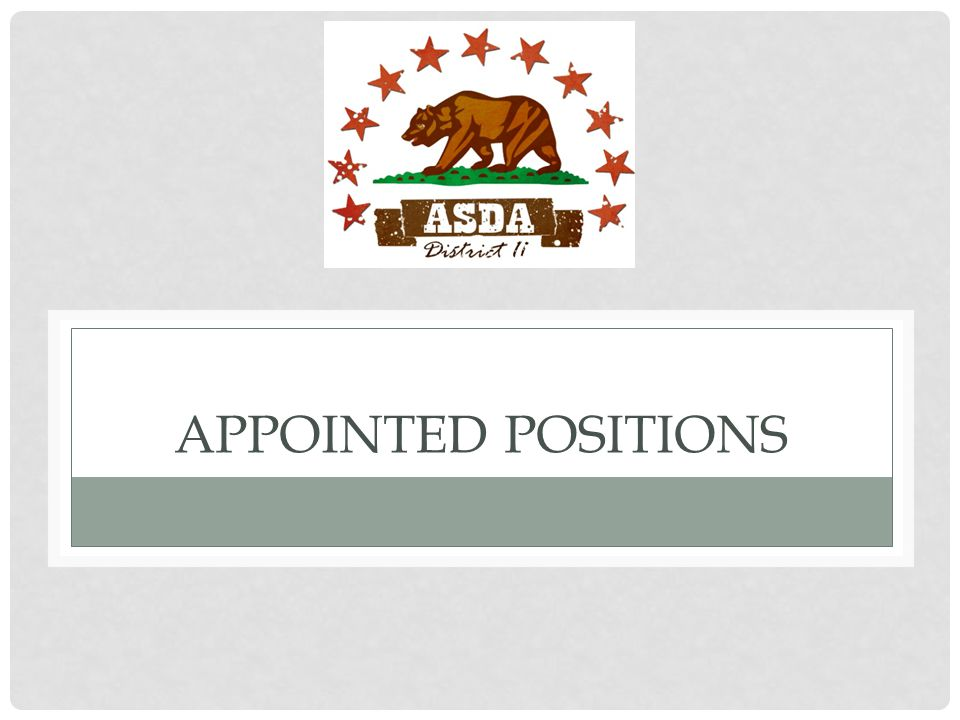 APPOINTED POSITIONS