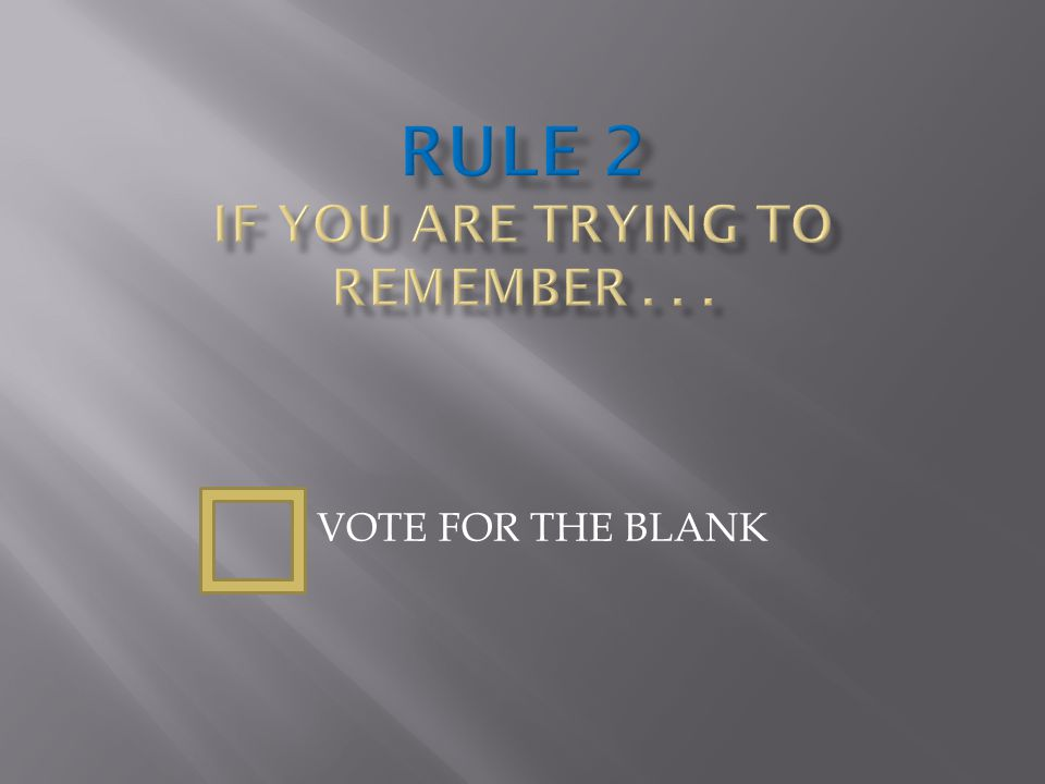 VOTE FOR THE BLANK