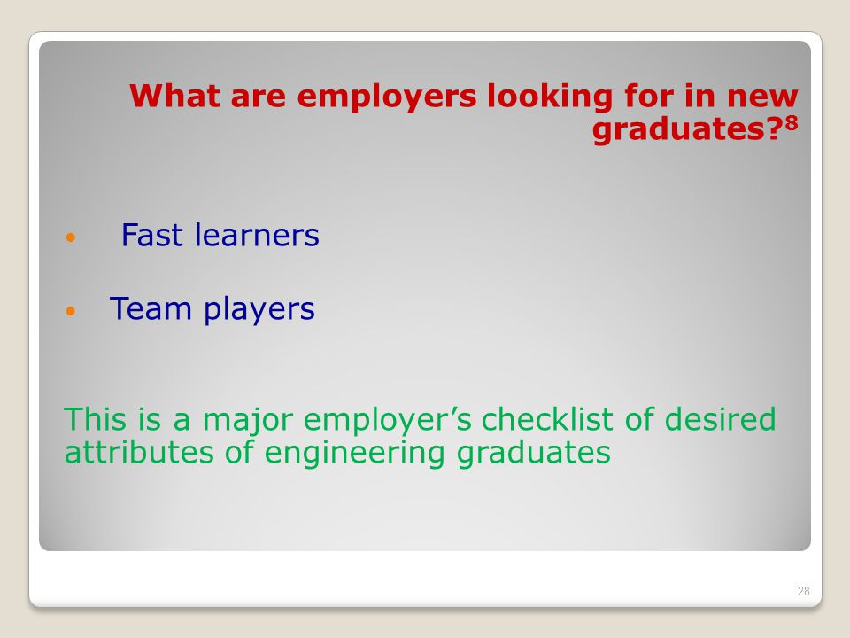 What are employers looking for in new graduates.