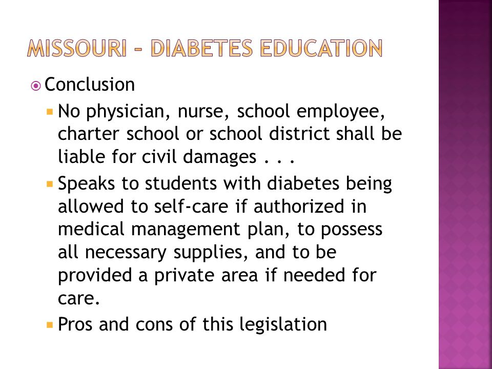  Conclusion  No physician, nurse, school employee, charter school or school district shall be liable for civil damages...