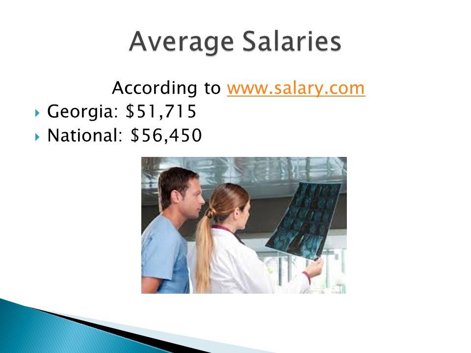 According to www.salary.comwww.salary.com  Georgia: $51,715  National: $56,450