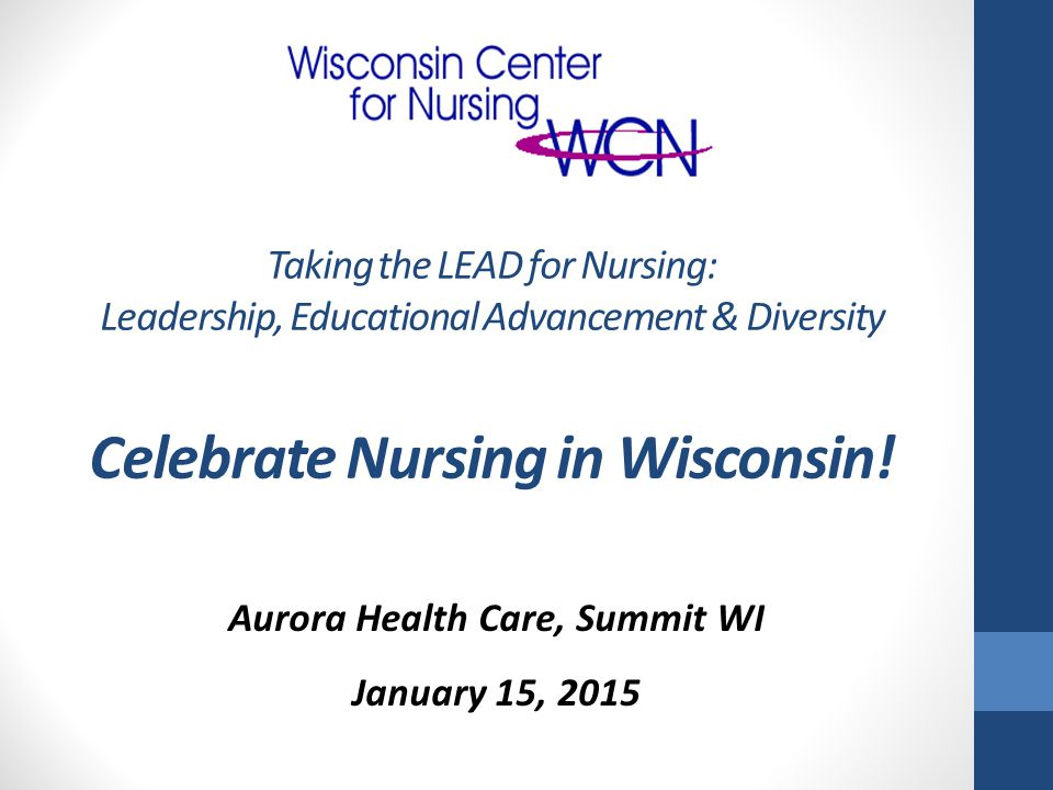 Welcome! Carolyn Krause, PhD, RN President – Board of Directors Wisconsin Center for Nursing, Inc.