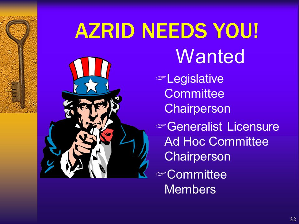 32 AZRID NEEDS YOU.