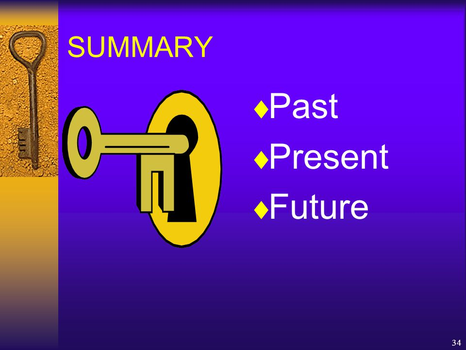 34  Past  Present  Future SUMMARY