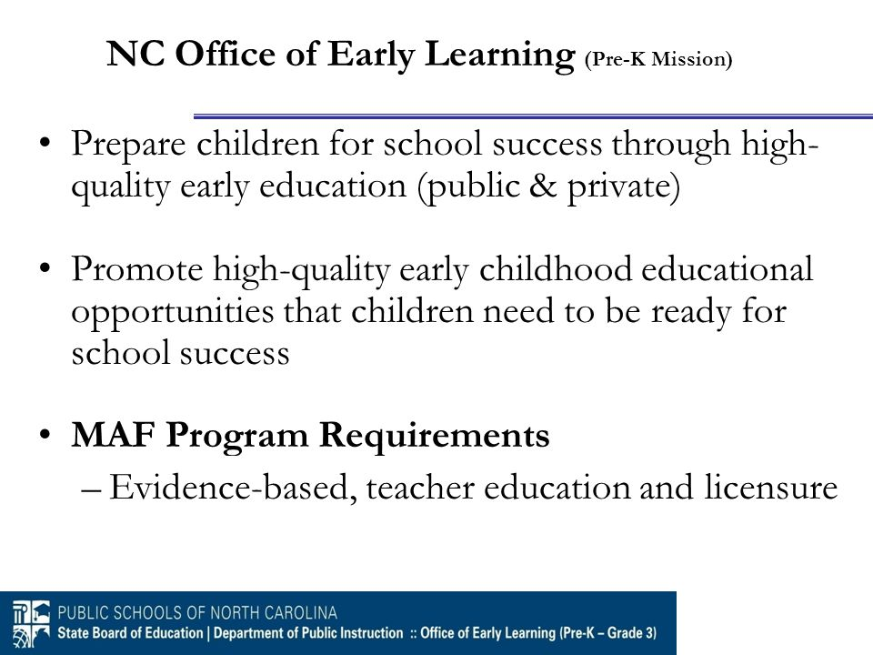 NC Professional Teaching Standards Professional Growth Model (Formative) Formal and Informal Observations Summative Evaluation All Licensure Levels (LE, BK SPI, BK SPII and Preschool or Pre-K/K Add-0n licenses) NC Teacher Evaluation Process