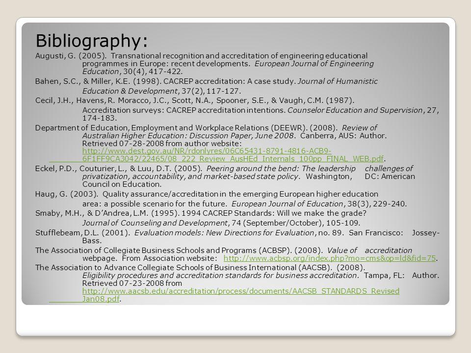 Bibliography: Augusti, G. (2005).