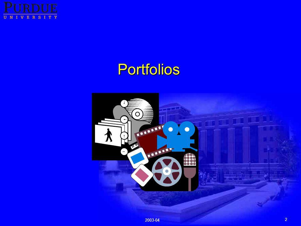 2 2003-04 Portfolios