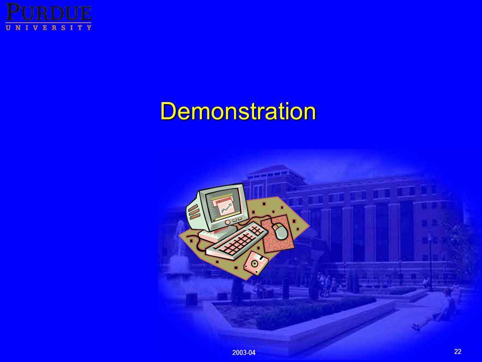 22 2003-04 Demonstration