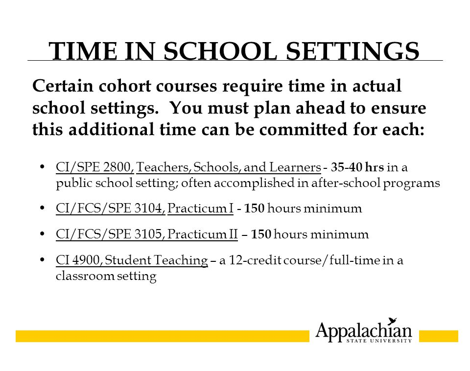 GRADUATION Appalachian's commencement occurs each May and December.
