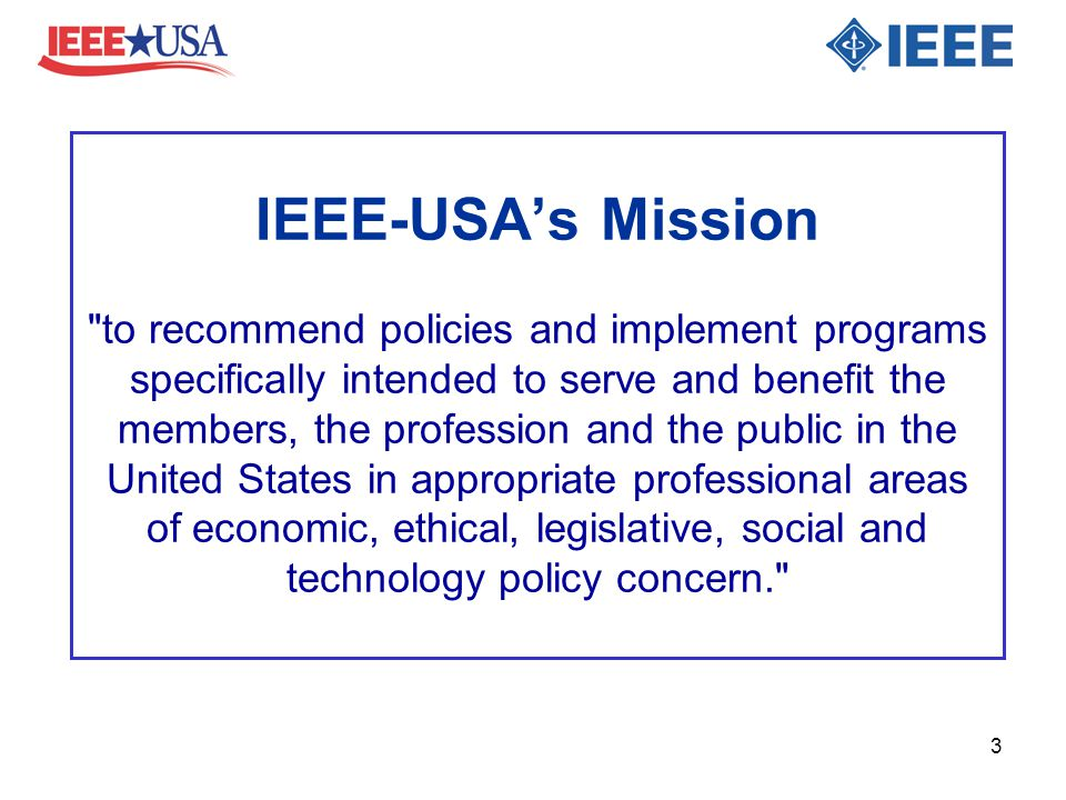 IEEE-USA's Mission