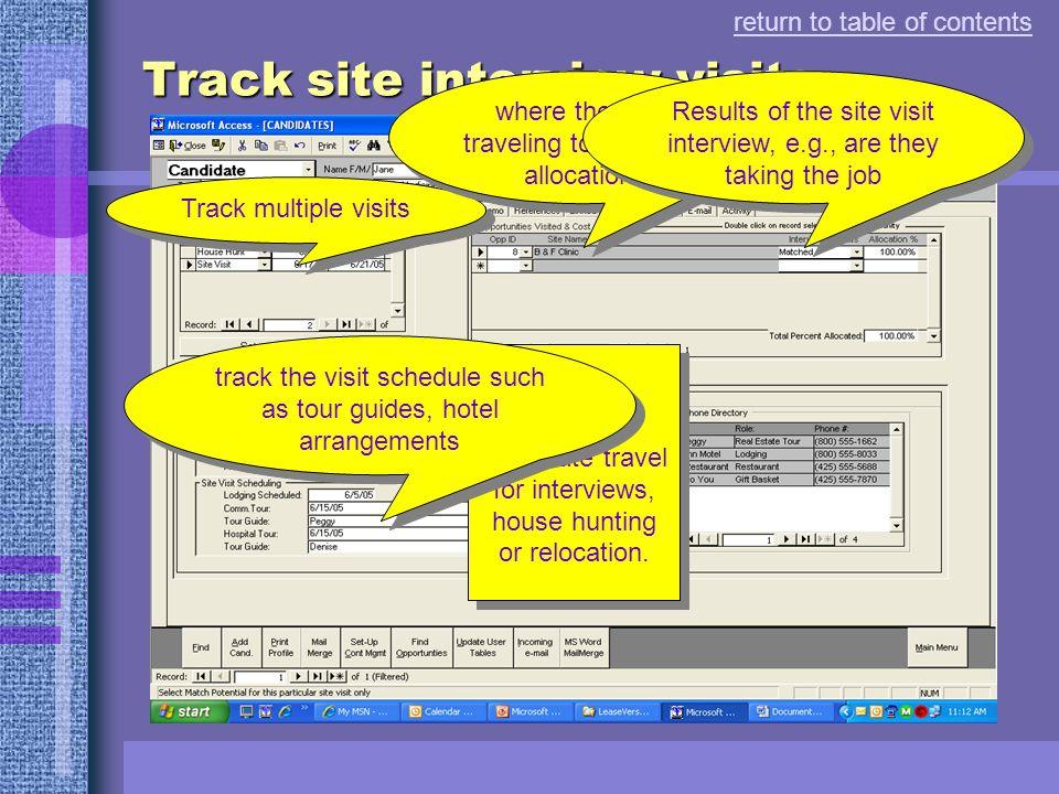 Track referrals...
