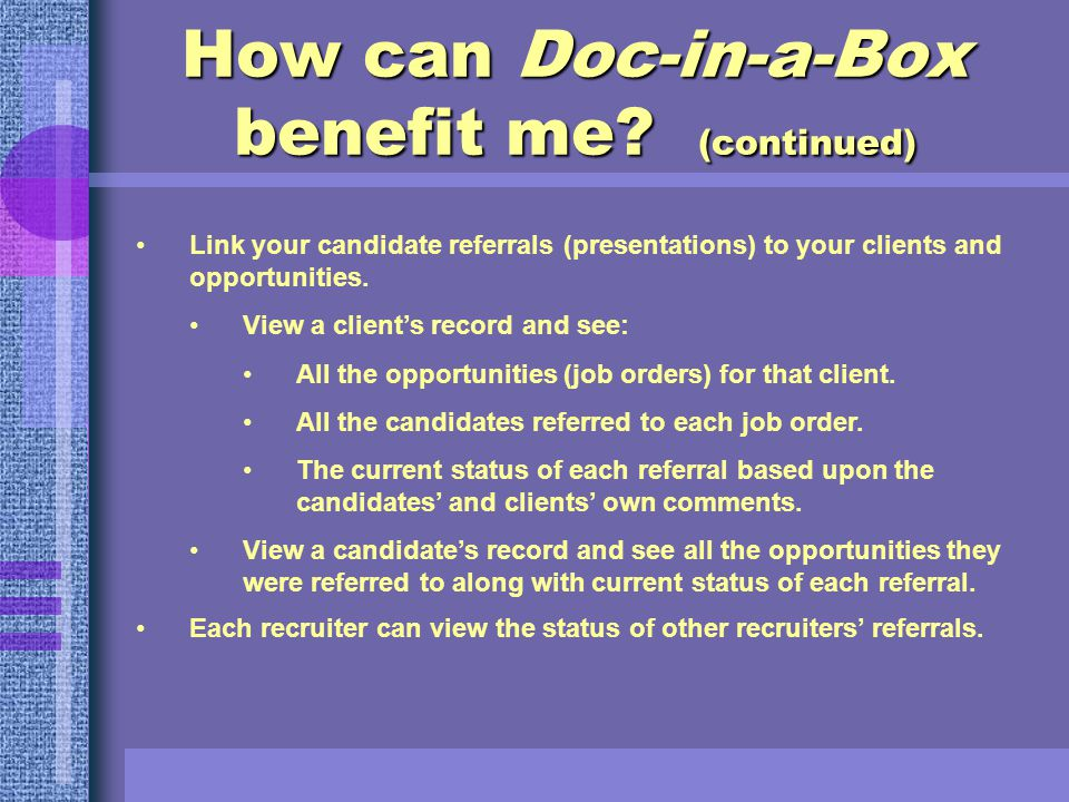 How can Doc-in-a-Box benefit me.
