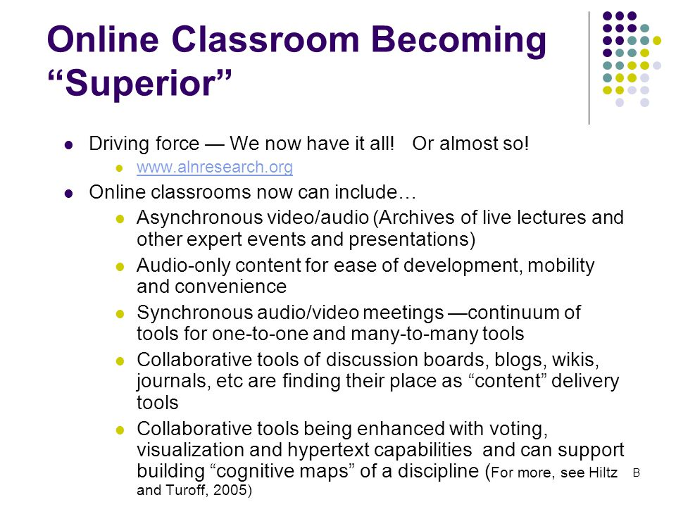 Online Classroom Becoming Superior Driving force — We now have it all.