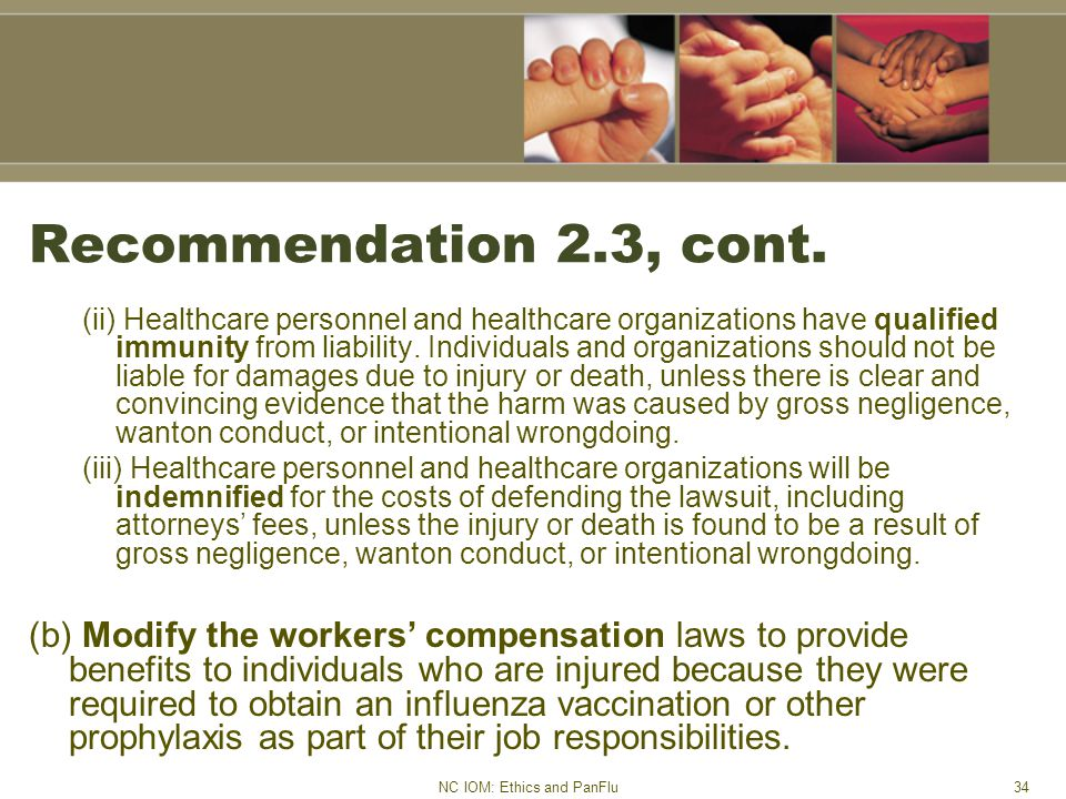 NC IOM: Ethics and PanFlu34 Recommendation 2.3, cont.