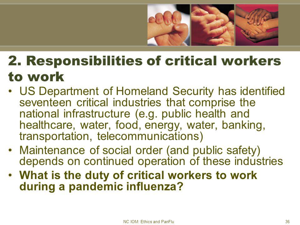 NC IOM: Ethics and PanFlu36 2.