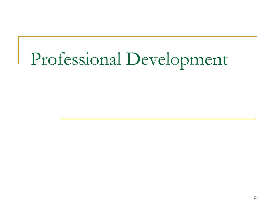 37 Professional Development