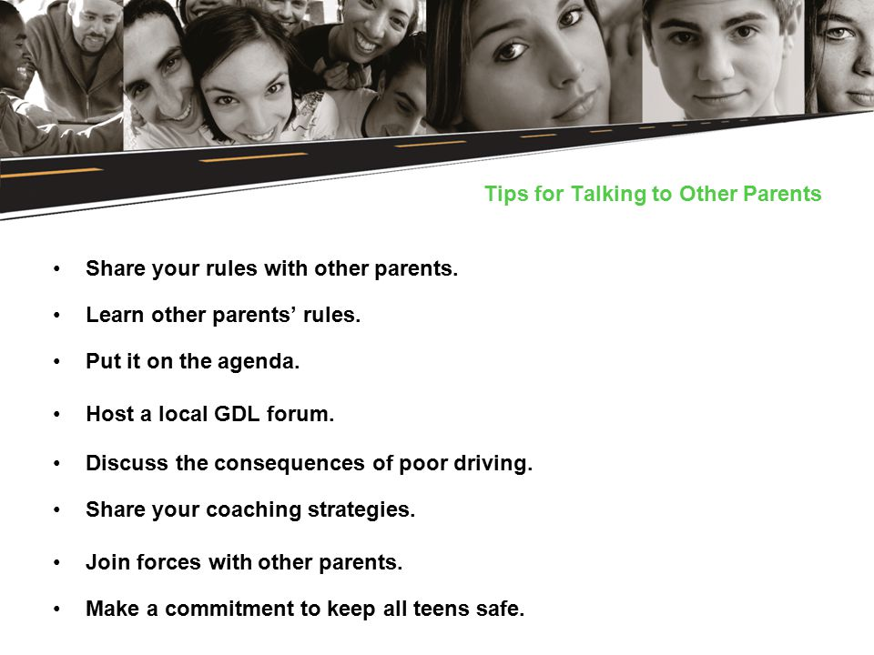 Tips for Talking to Other Parents Share your rules with other parents.