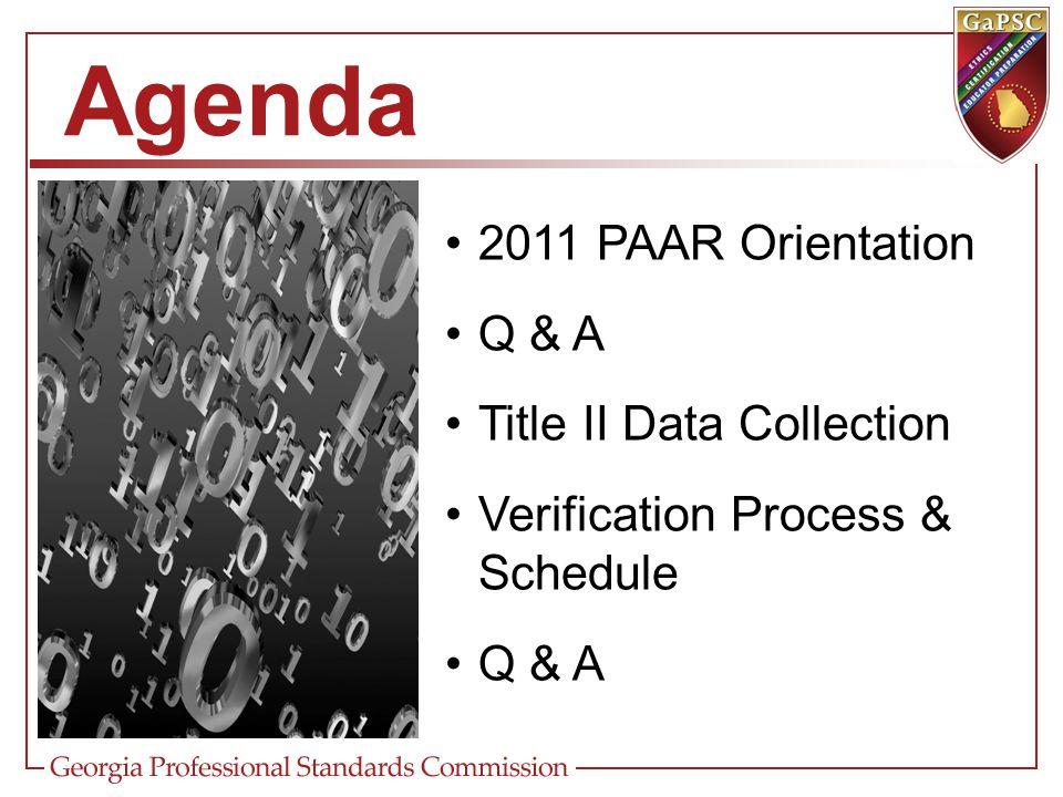Title II (HEOA) – FY12 Fall Title II Data: –Collection Process –Title II Data Collection Worksheet –Due Dates Spring Title II Data: